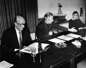 1978 Schulbuchautorentagung im Kölner Ostkolleg mit Wladyslaw Markiewicz(links) und Christian Graf von Krockow (Mitte)
